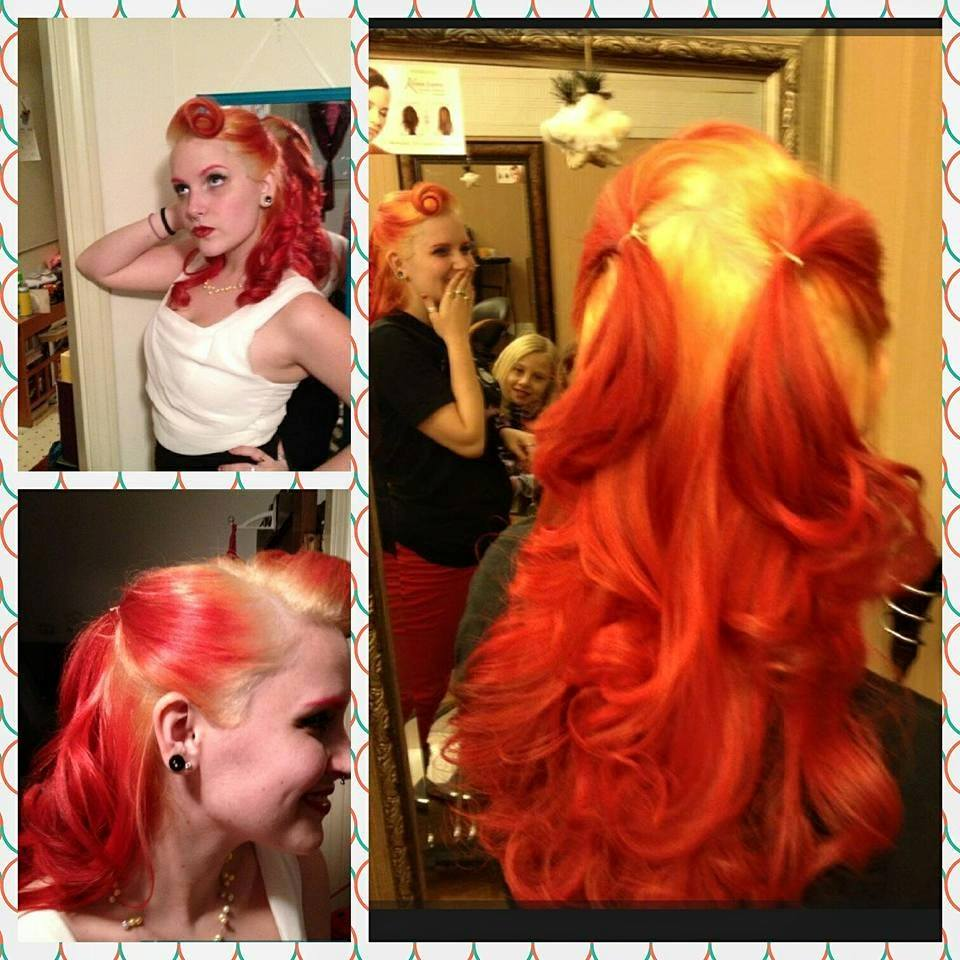 Red Flame Hair at Bombshell Hair Shop