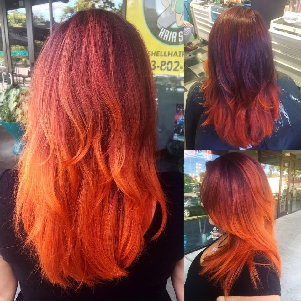 Long Red at Bombshell Hair Shop