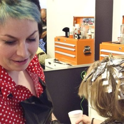 Jill cutting hair
