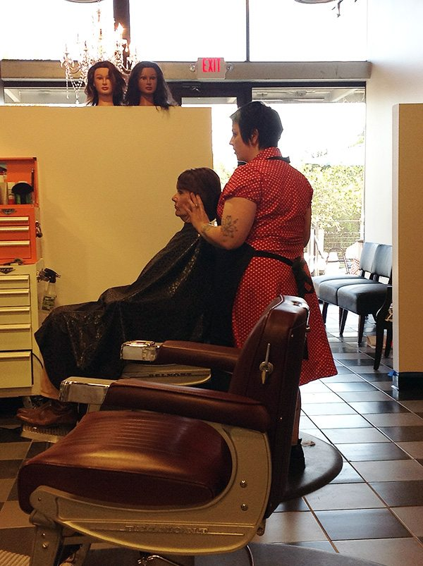 Beth in the Chair at Bombshell Hair Shop