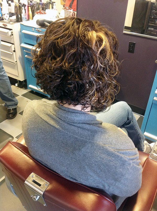 Elise After at Bombshell Hair Shop