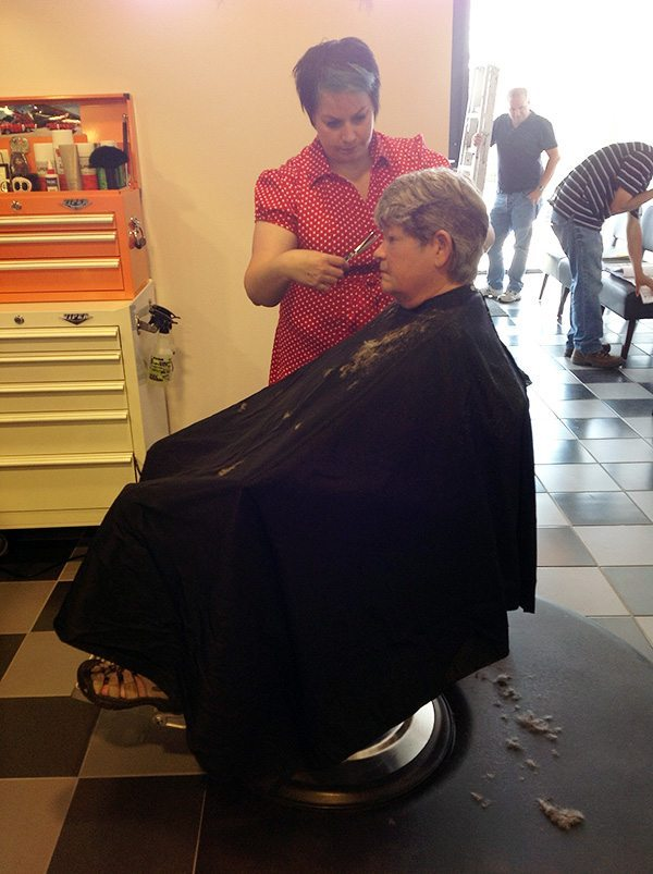 Jo Ann in the Chair at Bombshell Hair Shop