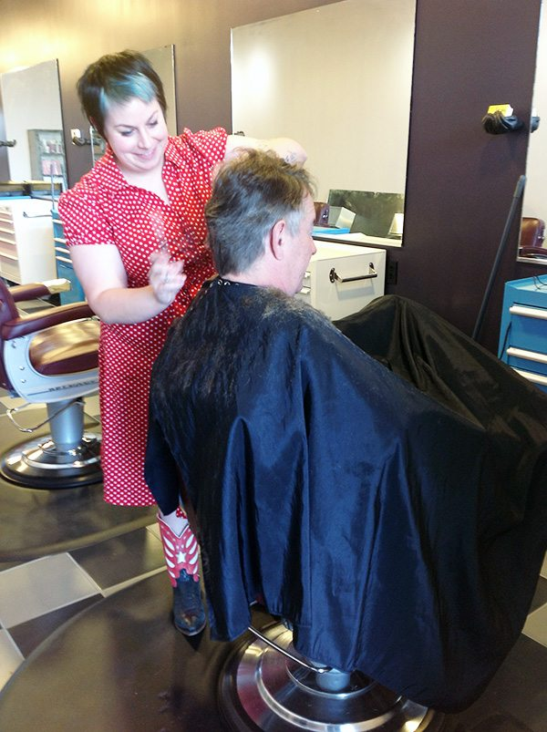 Ken Ground in the Chair at Bombshell Hair Shop