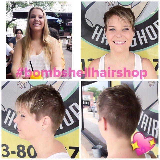 Short and Sassy haircut at Bombshell Hairshop